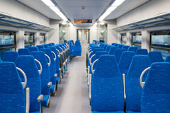 Interior high-speed electric train in Moscow, Russia Stock Photo