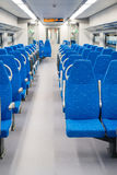 Interior high speed electric train in Moscow, Russia Stock Photos