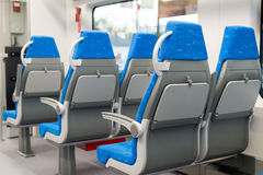 Interior high speed electric train in Moscow, Russia Royalty Free Stock Photo
