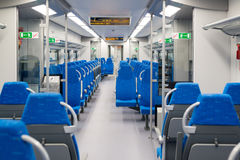 Interior high speed electric train in Moscow, Russia Stock Images