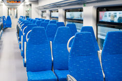 Interior high speed electric train in Moscow, Russia Stock Photo