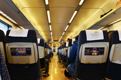 Interior of  high speed railway carriage Stock Images