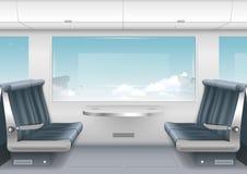 Interior high speed train Stock Image