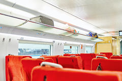 Interior of the high-speed train. Royalty Free Stock Image