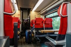 Interior of highspeed train royalty free stock images