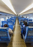 Interior of Hikari Shinkansen Royalty Free Stock Photos