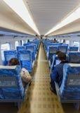 Interior of Hikari Shinkansen Royalty Free Stock Photos