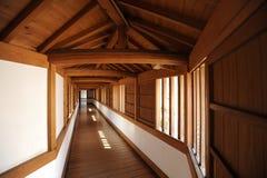 Interior of Himeji Castle complex. A passageway, part of the Himeji Castle complex, Himeji City, Japan Stock Photos