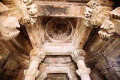 Interior of Hindu and Jain temples in Khajuraho. Madhya Pradesh, Stock Image