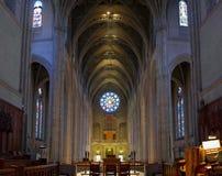 Interior histórico de la catedral de la tolerancia en San Francisco Foto de archivo libre de regalías