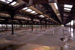 Interior histórico de Liberty Park Immigration Train Station imagem de stock