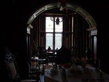 Interior histórico en el castillo Imágenes de archivo libres de regalías
