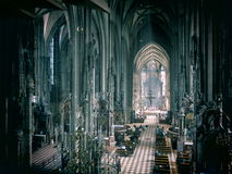 Interior of a historic cathedral Stock Images