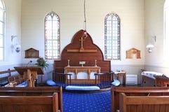 Interior of historic Christ Church, Russell, NZ Stock Photos