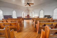 Interior of a historic church in the Dothan's Landmark Park Royalty Free Stock Image