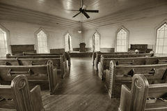 Interior of a historic church in the Dothan's Landmark Park Royalty Free Stock Images