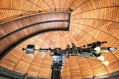 Interior of the historic cupola with telescope Stock Photo