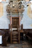 Interior of the historic great synagogue building. TYKOCIN, POLAND - MAY 03, 2018: Interior of the historic great synagogue building in mannerist-early Baroque Royalty Free Stock Images