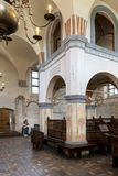 Interior of the historic great synagogue building. TYKOCIN, POLAND - MAY 03, 2018: Interior of the historic great synagogue building in mannerist-early Baroque Stock Image