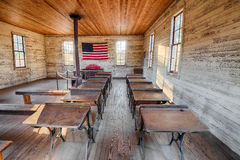 Interior of the historic one-room School in Dothan, Alabama Royalty Free Stock Images