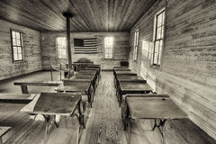 Interior of the historic one-room School in Dothan, Alabama Stock Photography