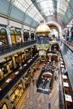 Queen Victoria Building Shopping Galleries, Sydney, Australia. Interior of the historic Queen Victoria Building, a Romanesque Revival building dating from 1898 Stock Images