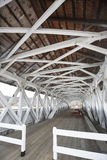 Interior of historic, white covered bridge, Groveton, New Hampsh Royalty Free Stock Image