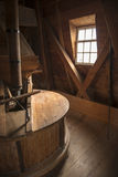 Interior of a historic windmill in the Netherlands Stock Photography