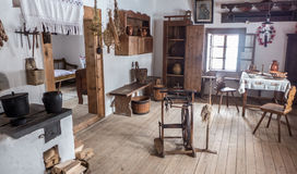 Interior of historical cottage - Zuberec Slovakia royalty free stock images