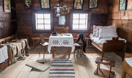 Interior of historical cottage - Zuberec Slovakia Royalty Free Stock Photos