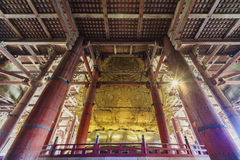Interior of the historical Horyu Ji Royalty Free Stock Photos
