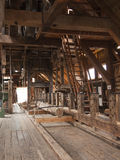 Interior of historical sawmill Stock Image