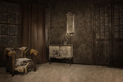 Interior in hoarfrost Royalty Free Stock Photography