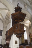 Interior of Hof Church, Lucerne Royalty Free Stock Photography