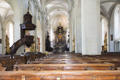 Interior of Hof Church, Lucerne Royalty Free Stock Photos