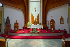 Interior of Holy Spirit Catholic Church of Heviz town, Hungary Stock Images