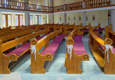 Interior of Holy Spirit Catholic Church of Heviz town, Hungary Royalty Free Stock Images