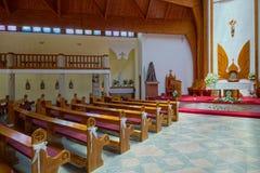 Interior of Holy Spirit Catholic Church of Heviz town, Hungary Stock Image