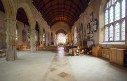 Interior of the Holy Trinity Church Bradford on Avon Stock Photography