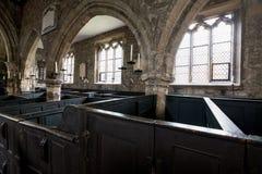 Interior of Holy Trinity Church, York UK. Photo shows the original, very rare, wooden box pews where families prayed together. York England UK. Interior of Holy stock image