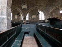 Interior of Holy Trinity Church, York UK. Photo shows the original, very rare, wooden box pews where families prayed together. York England UK. Interior of Holy stock photo