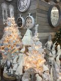 Interior of home articles shop with Christmas decorations Royalty Free Stock Image