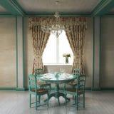 Interior home bonito de Provence fotografia de stock