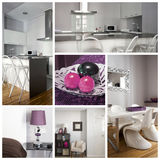 Interior home collage Stock Photos