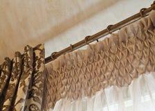 Interior Home: Drapeja Imagem de Stock