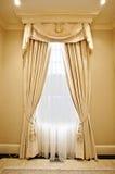 Interior Home: Drapery Foto de Stock Royalty Free