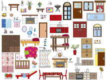 Interior home. Illustration of interior furnishing home Royalty Free Stock Photo