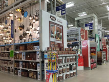 Interior of home improvement store Royalty Free Stock Images