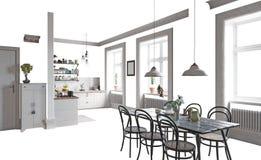 Interior home isolado Fotos de Stock Royalty Free