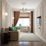 Interior of home office and guest room Royalty Free Stock Image